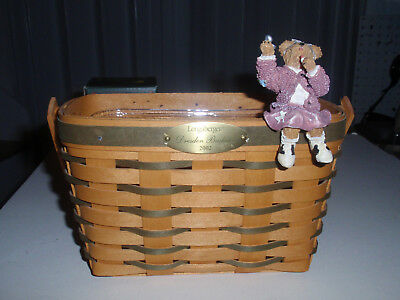 "Longaberger Exclusive, BOYD'S BEARS ""PEGGY SUE"" BASKET SITTER,  NEW!!!"