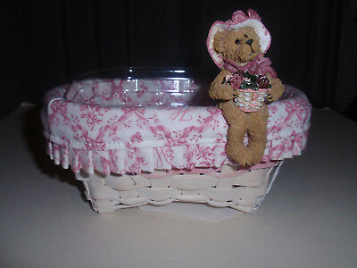 "Longaberger Exclusive, BOYD'S BEARS ""2008 HORIZON OF HOPE"" BASKET SITTER,  NEW!"