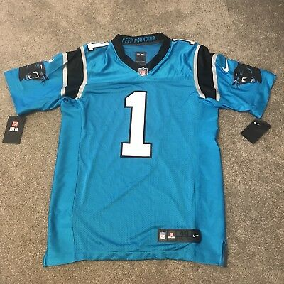 Nike Carolina Panthers Cam Newton  1 Player Issue Elite Jersey Size 40 med   325 cce045b2b