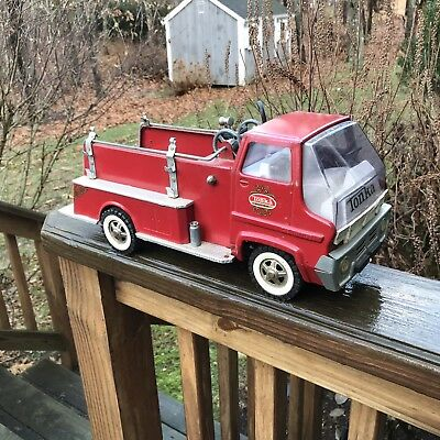 Vintage 1960's Tonka Pumper Fire Truck Pressed Steel Gas Turbine Toy