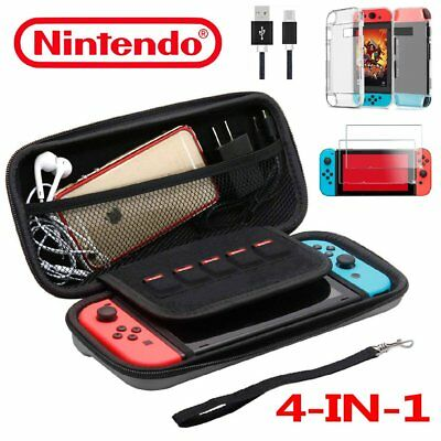 Hard Protective Carry Case Zipper Bag For Nintendo Switch & Accessory 2019