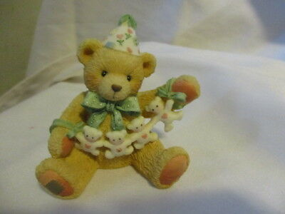"CHERISHED TEDDIE ""Unfolding Happy Wishes For You"" Birthday Bear Age 4   1992"