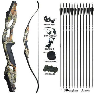 JUNXING Takedown Recurve Bow Set Right Hand Arrows Package Archery Set Hunting