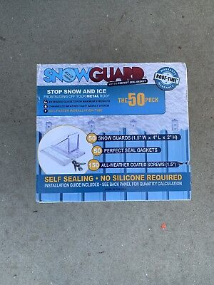 NEW STOP SNOW SLIDING OFF YOUR ROOF MINI SNOW GUARD™ 50 PACK W// GASKET /& SCREWS