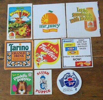 Vintage Milk Bar Advertising Stickers
