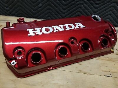 Honda Civic Eg Ek D16z6 D16y8 JDM Mugen Candy Red Valve Cover Powder Coated