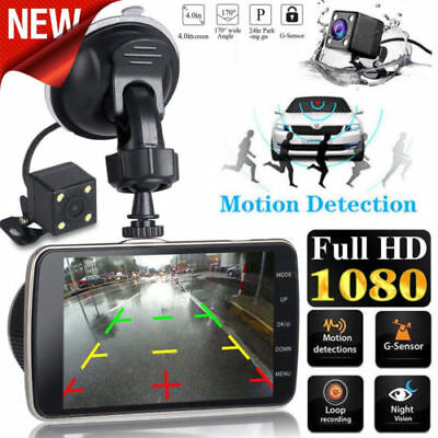 Dash Cam Front and Rear Dual Camera for Cars 170°Wide Angle Driving Recorder DVR