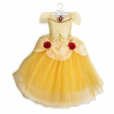 NWT Disney Store Belle Costume 5/6 Girl Beauty and the Beast
