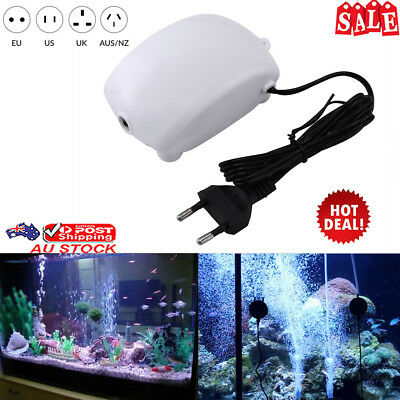 Silent Aquarium Oxygen Fish Tank Air Pump Fish Aquatic Supplies+ AU Plug
