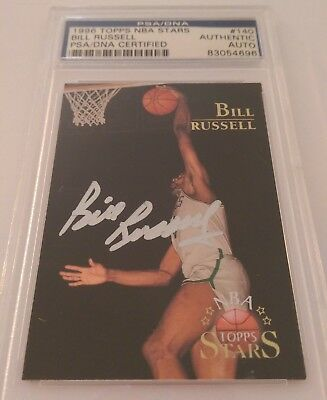 Bill Russell Signed Basketball Card