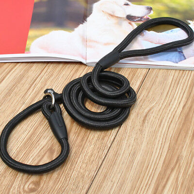 1Pc Pet Dog Nylon Rope Training Leash Slip Lead Strap Adjustable Traction Collar