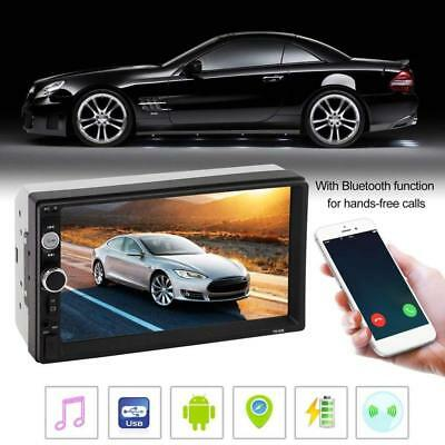 "Double 2 Din 7"" 1080P Car Stereo Radio FM Bluetooth Handsfree USB MP5 Player"