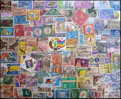 PAKISTAN 620 All Different, Large & Small, Used Thematic Stamps