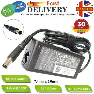 NEW DELL LATITUDE Laptop Charger 19.5V 4.62A 90W Replacement Adapter UK SELLER