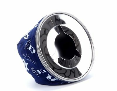 Windproof Stainless Bean Bag Cigarette Ashtray for Marine Boat Home Car Blue AU