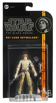 "Luke Skywalker #21 3.75"" Action Figure Jedi Training Star Wars Black Series"