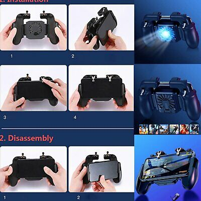 Mobile Phone PUBG Game Pad Controller Holder+ Cooler Cooling Fan for ISO/Android