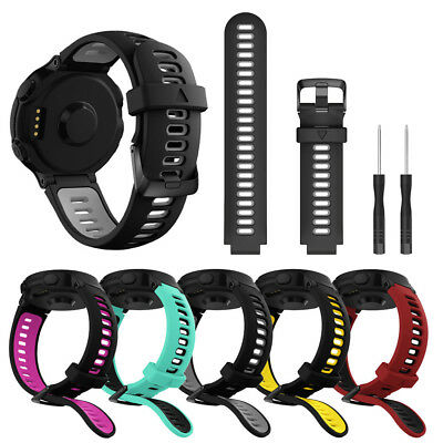 Soft Silicone Replacement Watch Strap Band For Garmin Forerunner 735XT Watch