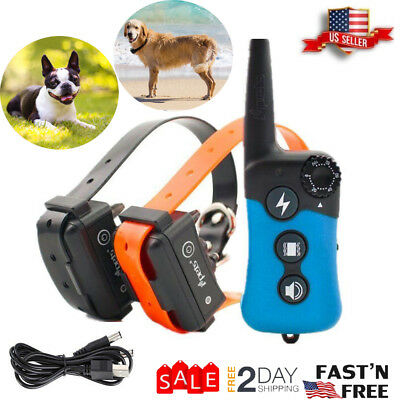 iPets PET619 330 yard Dog Shock Training Collar Remote Rechargeable Pet Trainer