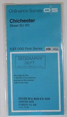 1958 Old Vintage OS Ordnance Survey 1:25000 First Series Map SU 80 Chichester