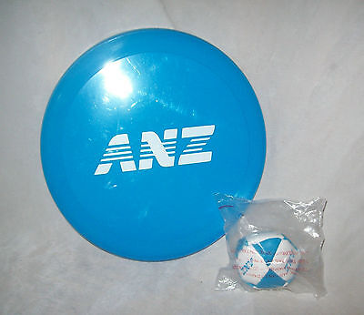 ANZ Bank - Frisbee and small hacky sack / ball - new in packet