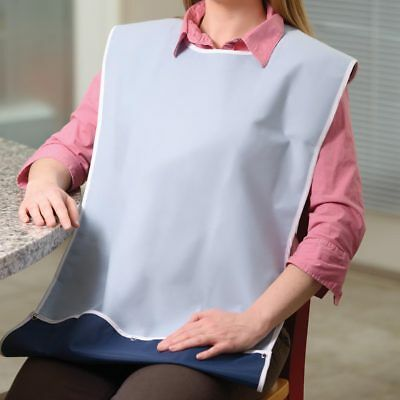 Adult Bib With Crumb Catcher - Adult Feeding Aid