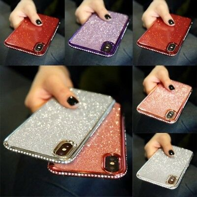 Bling Glitter iPhone Case Crystal Bumper Diamond Cover for iPhone XS Max XR 8 7
