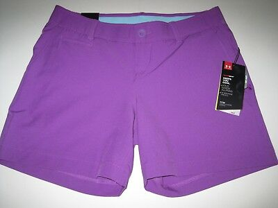 "$69.99 Under Armour Ua Golf Links 5"" Shorts Purple 1272342 913 Women's 4 Nwt"
