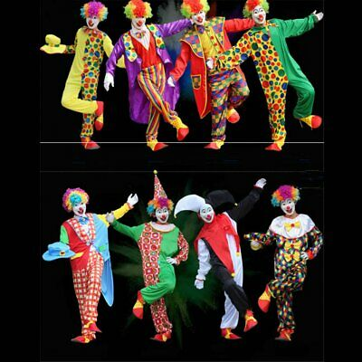Adult Clown Cosplay Costume Circus Outfit Halloween Party Carnival Fancy Dress