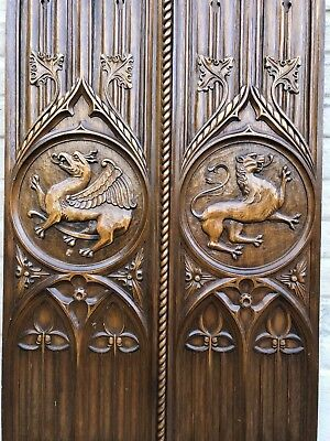 SALE !Top Quality Gothic Revival Panel with Dragon/Gargoyle / griffin /Lion nr 2