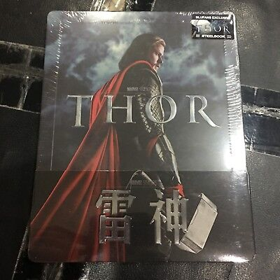 THOR 3D+2D Blu-ray Steelbook w/ 1/4 Slip | Blufans | Marvel | NEW SEALED 167/700