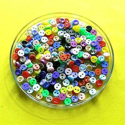 200 Wholesale Mixed Lot Mini Tiny Small Micro Doll Figure Sewing Buttons 5mm S1