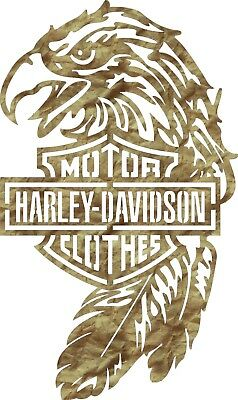 DXF-CDR of PLASMA LASER AND ROUTER Cut -CNC HARLEY DV EAGLE