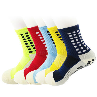 Men Anti Slip Soccer Football Socks Sport Absorb Sweat Breathable Soft Socks New