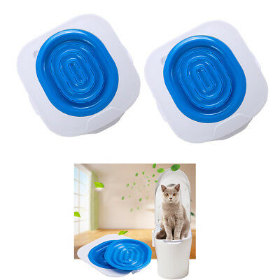 2 Plastic Cat Toilet Training Kit Pet Potty Urinal Litter Tray Easy to Learn