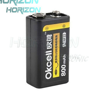 9V 800mAh USB Rechargeable Lipo Battery For RC Helicopter Model Microphone