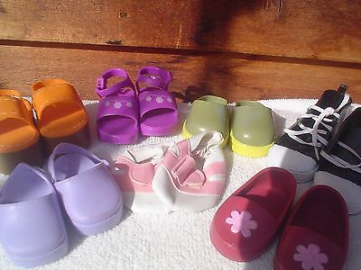 """18"""" Doll Loafers Sandals Sneakers (AG Girl Our Generation Battat) LOT Bin #3"""
