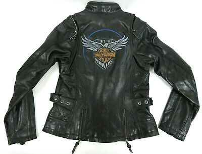 f00a802f82c3 Harley-Davidson NWT Women s 115th Anniversary Black Leather Jacket 98010- 18VW