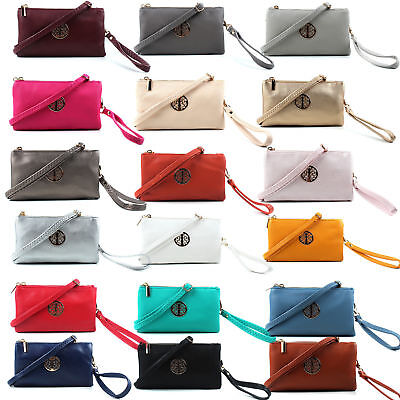 UK Small Clutch Bags Wristlet and Long Adjustable Strap Women Cross body Handbag