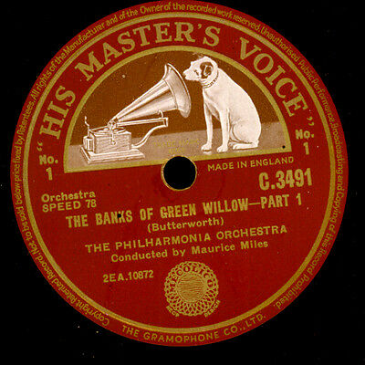 PHILHARMONIA ORCH. & MILES Butterworth: The Banks of Green Willow  78rpm  G3342
