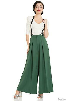 Voodoo Vixen Laura Green 40s Style Trousers 1930s, 1940s, 1950s Vintage Inspired