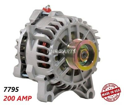 200 AMP 7795 Alternator Ford Lincoln Mercury High Output Performance NEW HD USA