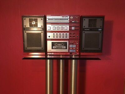 Very Rare 1985 SONY FH-3 Vintage Boom Box Red!!! Stereo Am/FM; Tape Deck; Aux