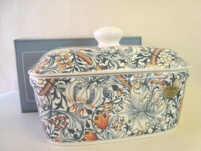 William Morris New Colour Golden Lily Ceramic Lidded Butter Dish