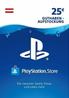 25€ PSN AT Playstation Network Code Card 25 Euro € EUR PS4, PS3, Vita Guthaben