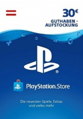 30€ PSN AT Playstation Network Code Card 30 Euro € EUR PS4 PS3 Vita Guthaben 50