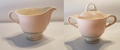 """Dazzling Creamer & Sugar Bowl with Lid - Warranted 22-K-Gold """"American Limoges""""?"""