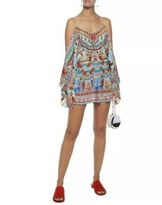 4d30accdd1 NWT Camilla Close To My Heart Drop Shoulder Playsuit In Multi Size Medium   499