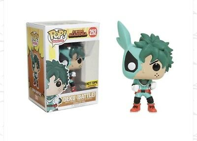 Funko POP! Deku (Battle) My Hero Academia Hot Topic Exclusive With Pop Protector