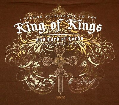 Vintage I Pledge Allegiance to the King of Kings and Lord of Lords Mens T-Shirt